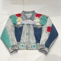80'sパッチワークデニムジャケット - 「NoT kyomachi」はレディース専門のアメリカ古着の店です。アメリカで直接買い付けたvintage 古着やレギュラー古着、Antique、コーディネート等を紹介していきます。