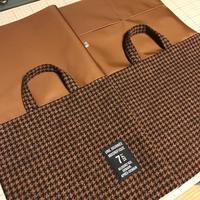 ツイードの巾着バッグの底部分を作る - Flora 大人服とナチュラル雑貨