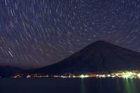 秋の夜に星影の男体山と中禅寺湖 - 『私のデジタル写真眼』