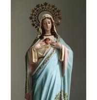 胸に手を当てる聖母64cm /G749 - Glicinia 古道具店