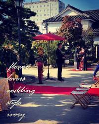 〜週末の婚礼から〜.♬ -  Flower and cafe 花空間 ivory (アイボリー)