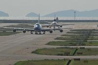 先陣を切るB747 - まずは広島空港より宜しくです。