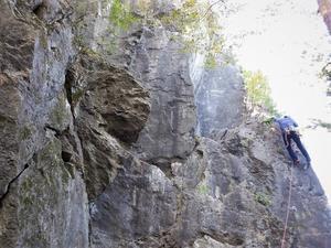 奥武蔵の岩場訪問 小川町腰越の立岩     Rock Climbing at Tatsuiwa in Ogawa, Saitama  - やっぱり自然が好き