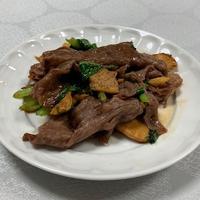 今日も薄切りだけれど牛肉です。「筍と牛肉の炒め物」 - おひとりさまの「夕ごはん」