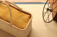 染晒しのまん丸刺し子ふきん - キラキラのある日々