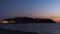 江の島シーキャンドルがピンクにライトアップ - エーデルワイスPhoto