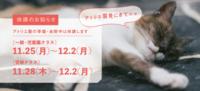 アトリエ展による休講のお知らせ - 大阪の絵画教室|アトリエTODAY