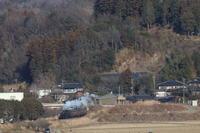 冬枯れの山を背に走るC11325- 2019年・真岡鉄道 - - ねこの撮った汽車