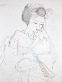 祇園舞妓さんモデル亜佐子ちゃんB2 - 黒川雅子のデッサン  BLOG版