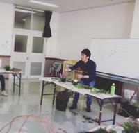 海老が作公民館アレンジメント講習和モダン第二弾 - 我蘭堂(ガーランド)バックヤードへようこそ!