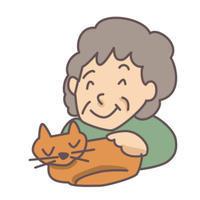 ネコの喜按と拒按(岡) - 柚の森の仲間たち