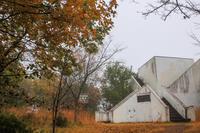 朝霧の白銀平展望台と天神社 - デジカメ写真集