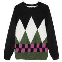 Diamond Check Mohair Sweater - trilogy news