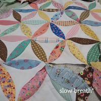 オレンジピールのピーシング - 布と綴る日々     slow breath