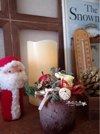 プリザと木の実のクリスマスアレンジ - 森の工房 Flower Work ナチュラルスローな空間
