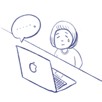 macbookくん答えて!! - たなかきょおこ-旅する絵描きの絵日記/Kyoko Tanaka Illustrated Diary