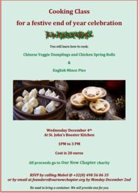 12月4日(水)チャリティークリスマスお料理教室 - ベルギーの小さなおみせ PERIPICCOLI