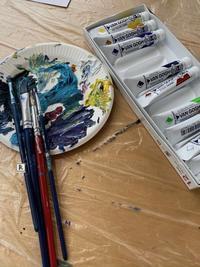 アクリル絵の具 - Bouquets_ryoko