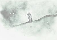 『初雪降り続く・・・・・』 - 『ヤマセミの谿から・・・ある谷の記憶と追想』