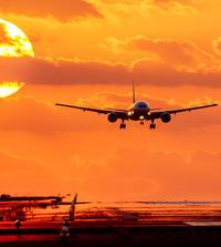 ✔ 夕暮れの熊本空港:11月=熊本県 - チャレンジ! 日々の散歩道