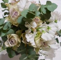 体験レッスンでした - お花に囲まれて