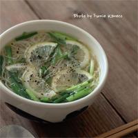 エスニック風温麺 - ふみえ食堂  - a table to be full of happiness -
