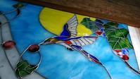 鳥と音のパネル - ステンドグラスルーチェの日常