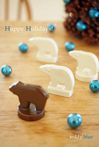Happy Holidays with the bears  ハッピー ホリデーベア - teddy blue
