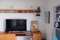 テレビ裏の配線処理は板一枚 - 美的生活研究所