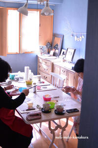 ◆デコパージュ*ノエルレッスン作品☆可愛いのができました - フランス雑貨とデコパージュ&ギフトラッピング教室 『meli-melo鎌倉』