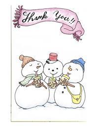 雪だるま - アメリカ輸入のシール♪住所/名前/お好きな文字を印刷してお届け♪アドレスラベルです。