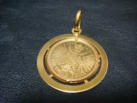アンティーク金貨のペンダント - アンティーク(骨董) テンナイン