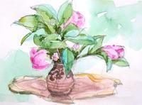 椿を描く - ryuuの手習い