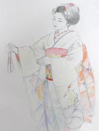祇園舞妓さんモデルまめ結ちゃん - 黒川雅子のデッサン  BLOG版