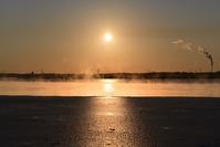 ウトナイ湖の気嵐 - やぁやぁ。