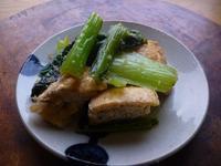 厚揚げ(厚油揚げ)と小松菜の生姜醤油炒め - LEAFLabo
