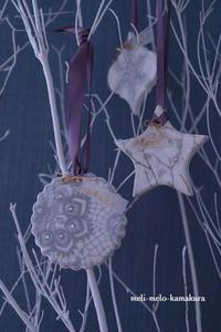 ◆デコパージュ*オーダーいただきましたアロマストーン・オーナメント♪ - フランス雑貨とデコパージュ&ギフトラッピング教室 『meli-melo鎌倉』