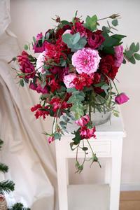 ピンクのウエディングブーケ -  La Fleur