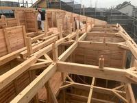 「板倉シェアハウス」3建て方 - HAN環境・建築設計事務所