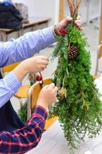 親子で作るクリスマススワッグ・ワークショップ - Fiore Spazio 花便り