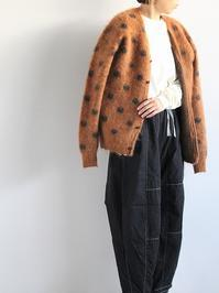 NEEDLESMohair Cardigan - Polkadot / Brown - 『Bumpkins putting on airs』