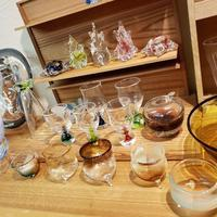 12月21日(土)22日(日)開催ガラス作家岡本由美子さんの個展 - 木と小鳥  月や