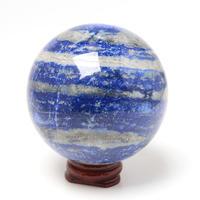 ラピスラズリの丸玉70ミリアフガニスタン産 - すぐる石放題