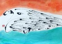 猫の目のような「U」 - 筆文字・商業書道・今日の一文字・書画作品<札幌描き屋工山>