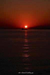 野母崎の夕陽 - A  B  C