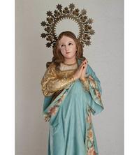 無原罪の御宿り 蛇を踏む聖母マリア像 76cm  /G585 - Glicinia 古道具店