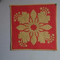 ハイビスカス40㎝パターン - ほっと一息・・~Sakura's Hawaiian QuiltⅡ