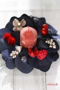 クリスマスリース* レッスン - Flower letters