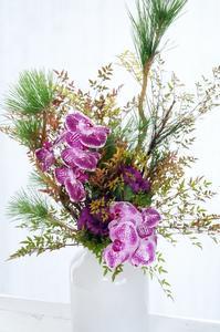 お正月とクリスマスがいっぺんこ(^^♪ - お花に囲まれて