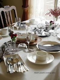 【対面レッスン】クリスマスレッスンは満席です - ーAkashi Yasashii Cooking Salonーオンラインレッスン/おもてなし料理教室/テーブルコーディネート/明石/垂水/神戸/加古川